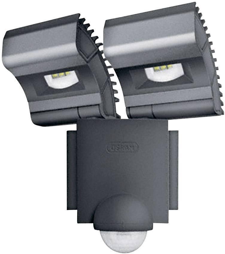 Dvojitý LED reflektor s PIR čidlom Osram Noxlite, 2x 8 W, čierny