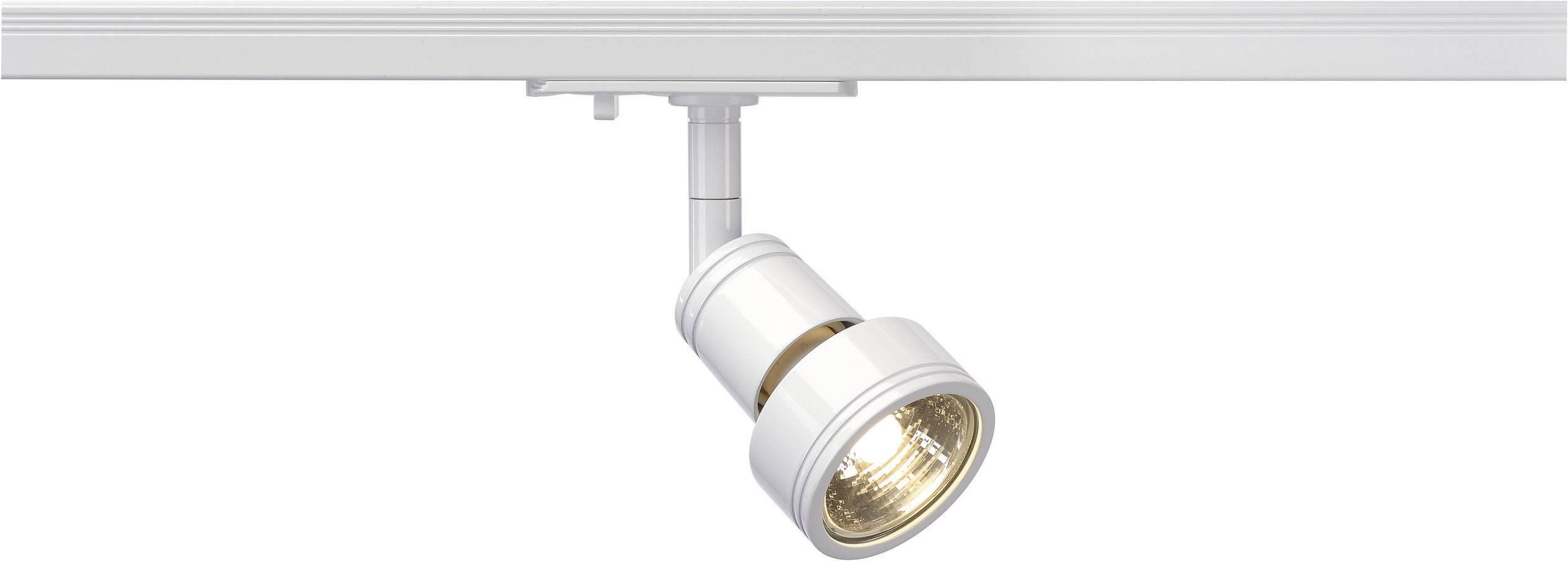Svietidlo pre lištové systémy (230 V) - SLV Puri, GU10, 1-fázové, 50 W, biela