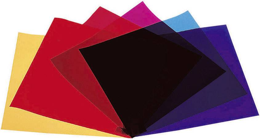 Sada farebných fólií pre žiarovky PAR 64, 4 ks