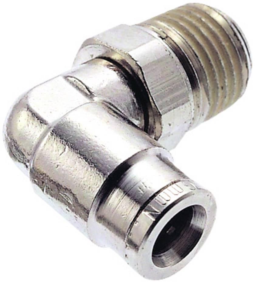 Úhlová propojka otáčitelná Norgren 101471028, vnější závit: R1/4, Ø vedení: 10 mm