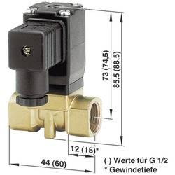 2/2-cestný elektromagnetický ventil Busch Jost 8253000.8001.02400, G 1/4, 24 V/DC