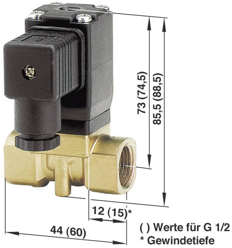 2/2-cestný mechanicky odolný ventil pneumatiky Busch Jost 8253000.8001.02400, G 1/4, 24 V/DC