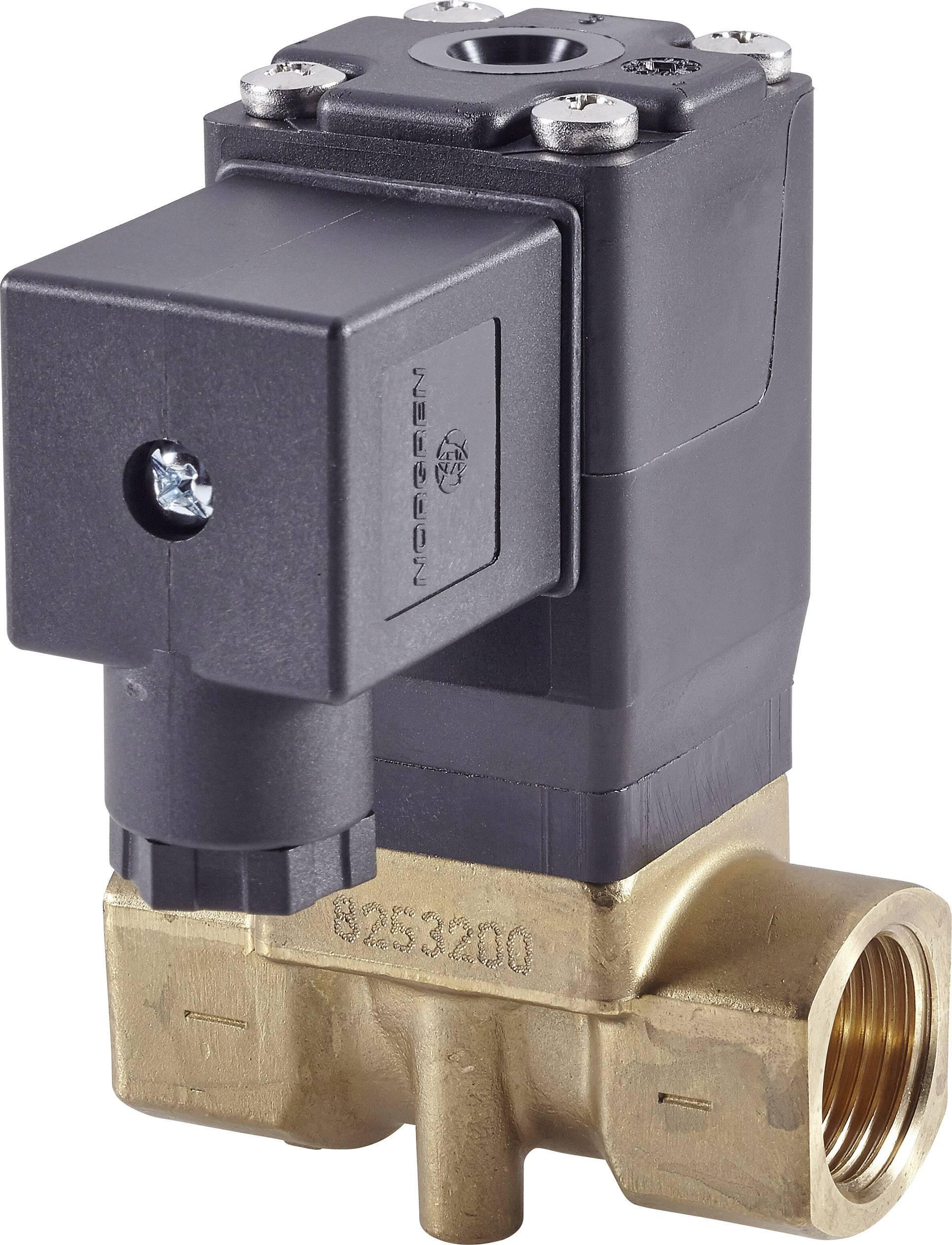 2/2-cestný mechanicky odolný ventil pneumatiky Busch Jost 8253200.8001.02400, G 1/2, 24 V/DC