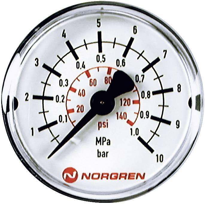 Manometr Norgren zadní strana, 0 až 10 bar, vnější závit R1/8