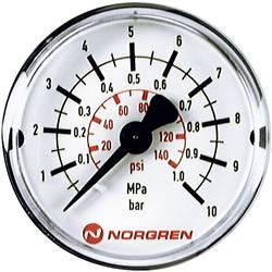 Manometr Norgren zadní strana, 0 do 16 bar, vnější závit R1/8
