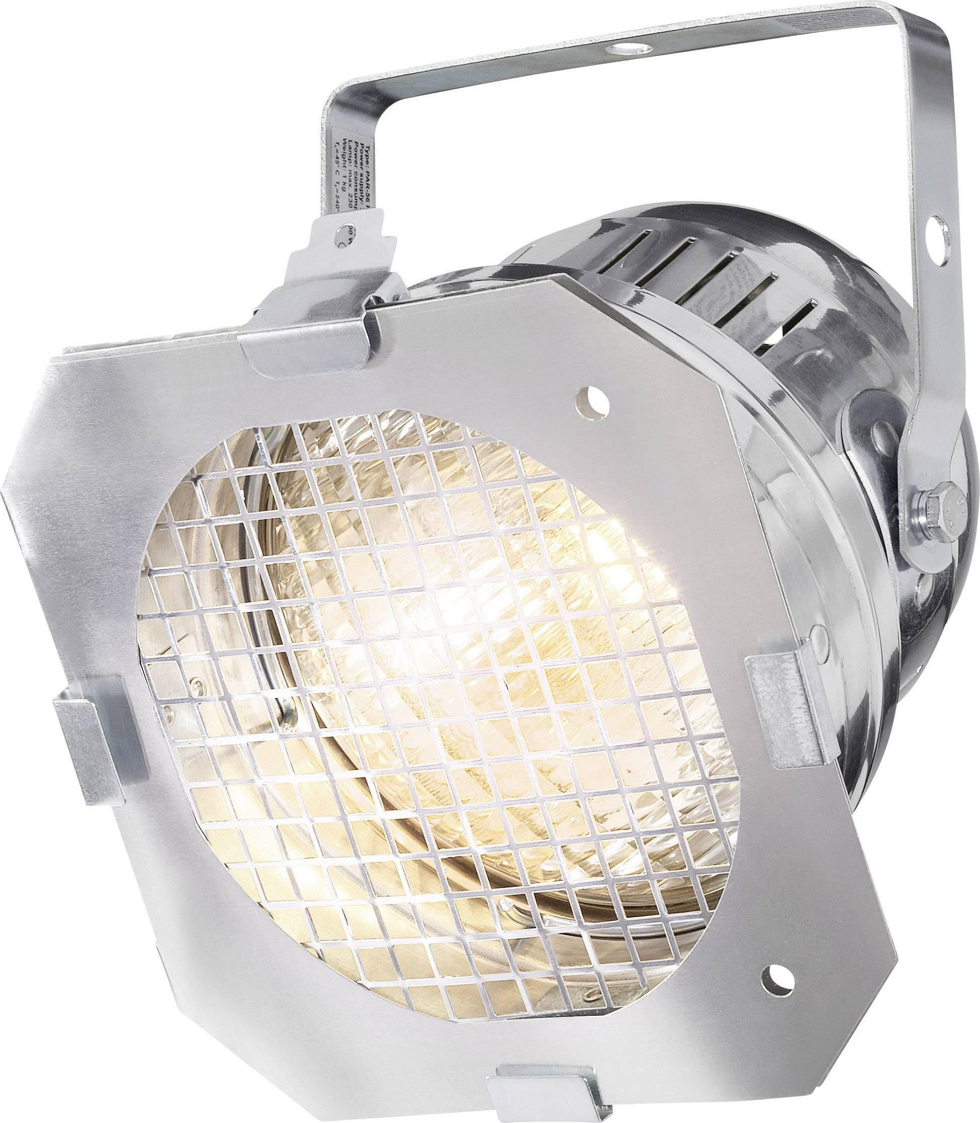 Reflektor PAR 56 Short, strieborný, vrátane 300 W svetla a 4 ks farebných filtrov
