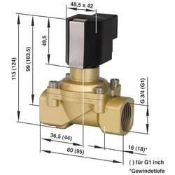 2/2-cestný mechanicky odolný ventil pneumatiky Busch Jost 8254400.9154.23049, 230 V/AC