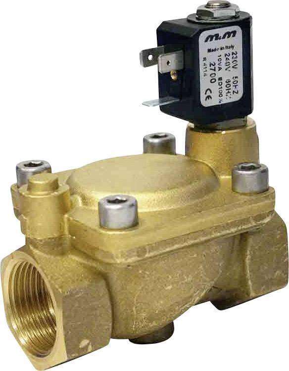 2/2-cestný elektromagnetický ventil M & M International B222DBY, G 1, 230 V/AC