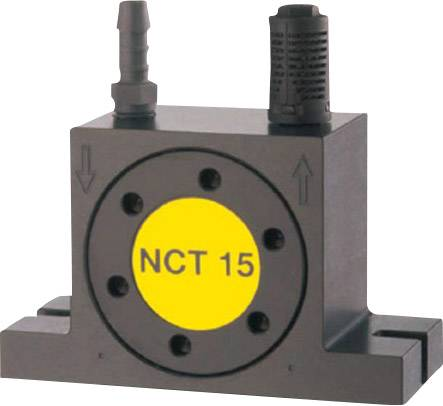 Turbínový vibrátor Netter Vibration NCT 15 menovit.frekvencia (pri 6 baroch) 23400 rpm, odstred.sila (6 barov) 4277 N, 0.160 cm/kg
