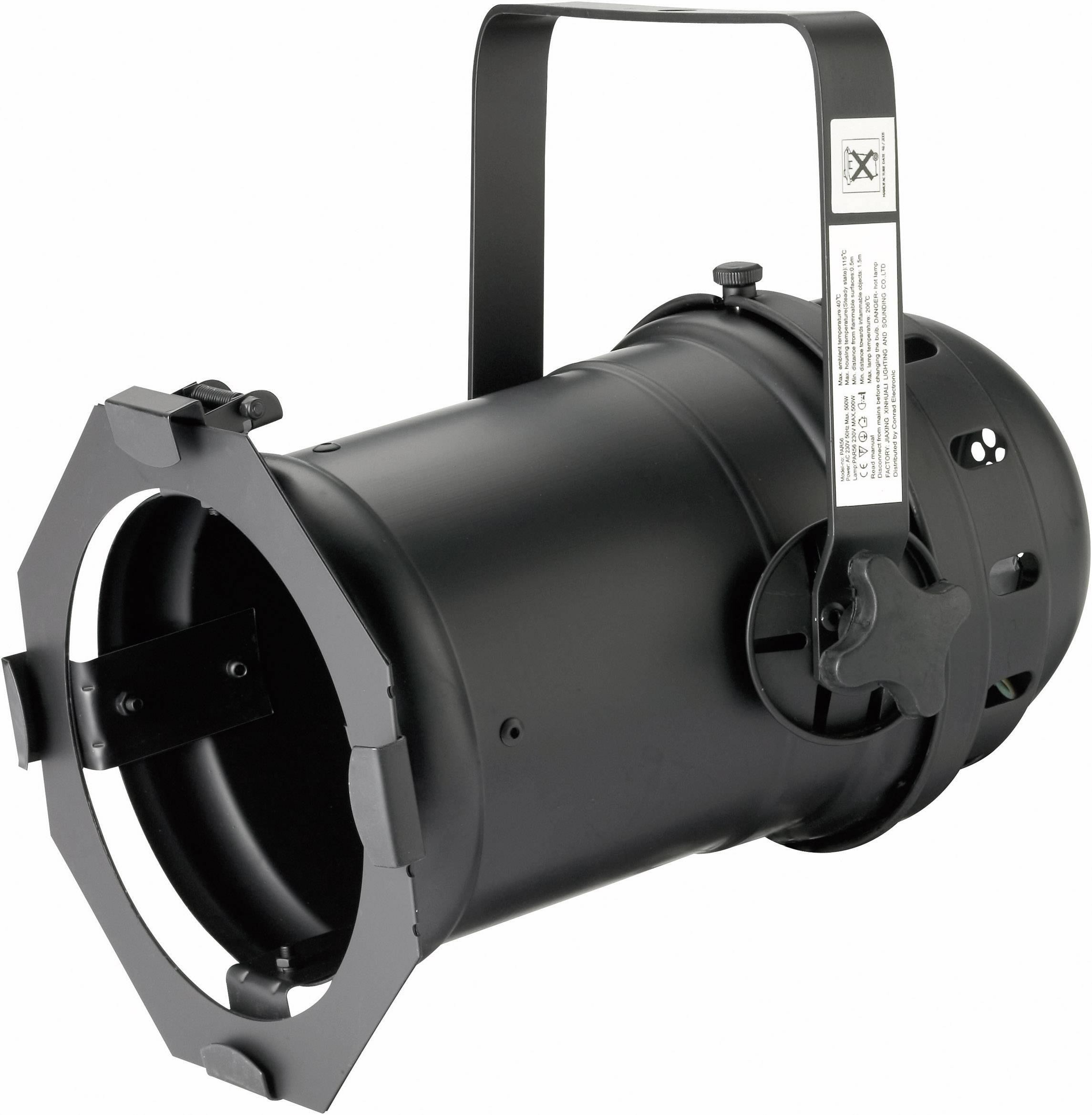 Reflektor PAR 56 Long, čierny hliník