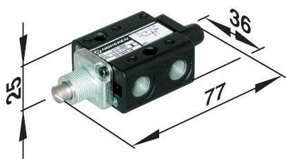 Pneumatický ventil Norgren SP/M1553/14, 3/2-cestné