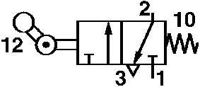 Ventil Norgren SP/M1553/8, 3/2-cestné