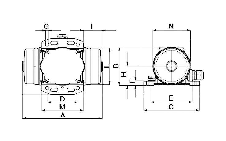 Vnější el. třepačka Netter Vibration NEG 5020 400 V, 192 N