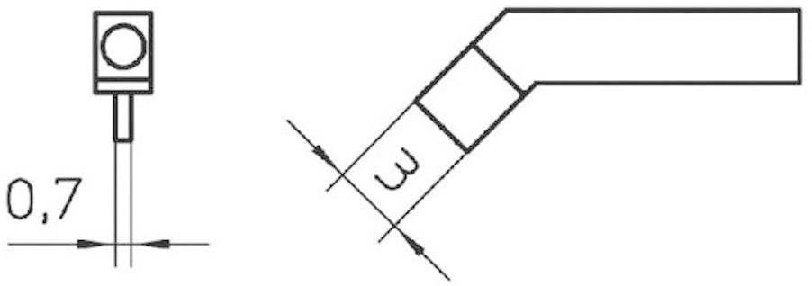 Pár pájecích hrotů Weller RTW3, 3x1 mm