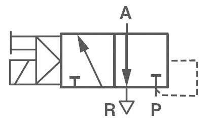 Elektropneumatický ventil Norgren V50A413A-A213A, 3/2-cestné, G 1/8, 24 V/DC