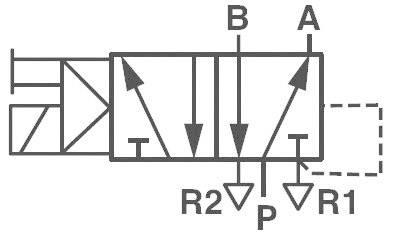 Elektropneumatický ventil Norgren V50A513A-A213A, 5/2-cestné, G 1/8, 24 V/DC
