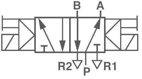 Elektropneumatický ventil Norgren V50A511A-A213A, 5/2-cestné, G 1/8, 24 V/DC