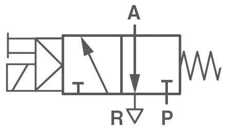 Elektropneumatický ventil Norgren V51B417A-A213J, 3/2-cestné, G 1/4, 24 V/DC