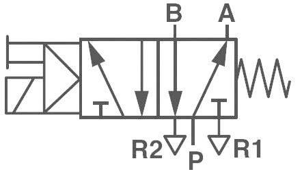 Elektropneumatický ventil Norgren V51B517A-A213J, 5/2-cestné, G 1/4, 24 V/DC