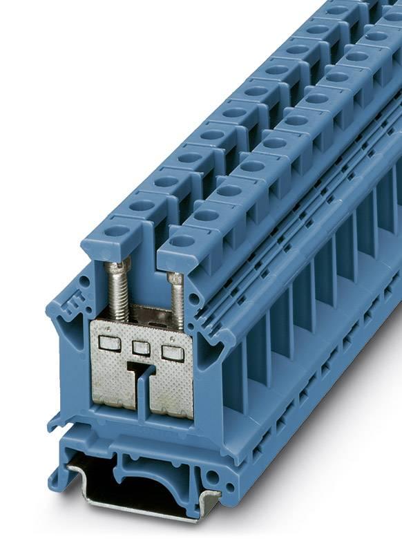Řadová svorka průchodky Phoenix Contact UK 16 N BU 3006056, 50 ks, modrá