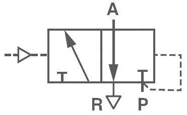 Pneumatický ventil Norgren V50A4D3A-XA090, 3/2-cestné, G 1/8, 24 V/DC