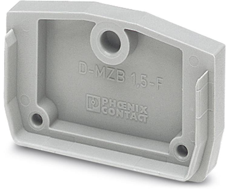End cover D-MZB 1,5-F Phoenix Contact D-MZB 1,5-F 3024180, 50 ks