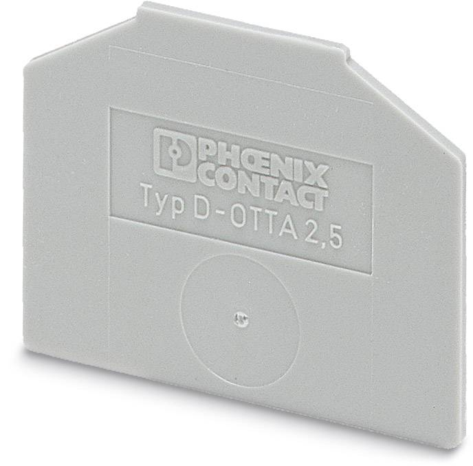End cover D-OTTA 6-T Phoenix Contact D-OTTA 6-T 0790459, 50 ks