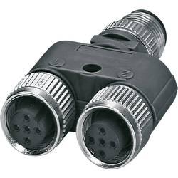 Rozdeľovač a adaptér pre senzory - aktory Phoenix Contact SAC-5P-M12Y/2XM12FS VP S21 1514029, 5 ks