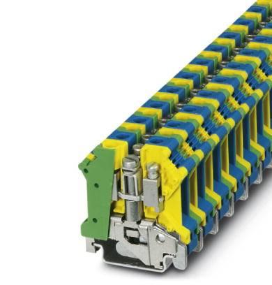 Instalační svorka ochranného vodiče Phoenix Contact UK 10 N-PE/N 3024740, 10 ks, zelenožlutá, modrá