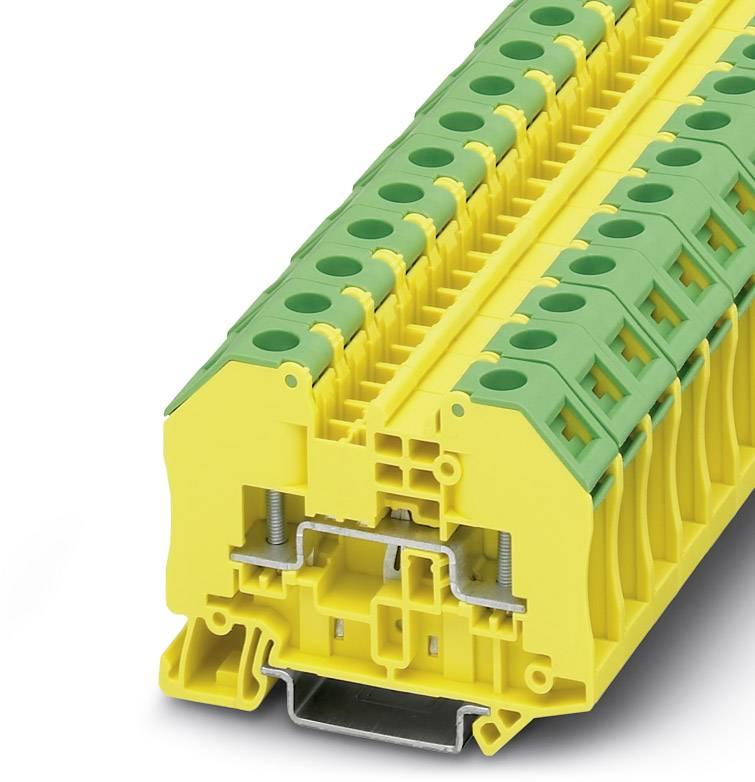 Svorka pro šroubový spoj Phoenix Contact RT 3-PE 3049411, 50 ks, zelenožlutá