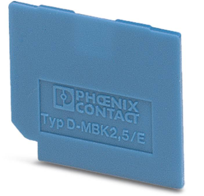 End cover D-MBK 2,5/E BU Phoenix Contact 50 ks