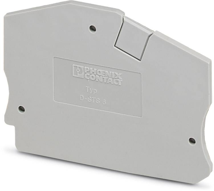 End cover D-STS 6 Phoenix Contact D-STS 6 3038189, 50 ks