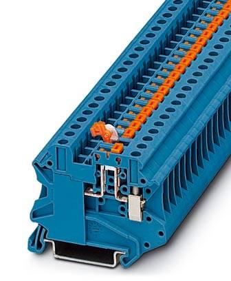 Řadová svorka průchodky Phoenix Contact UT 4-MT BU 3046278, 50 ks, modrá