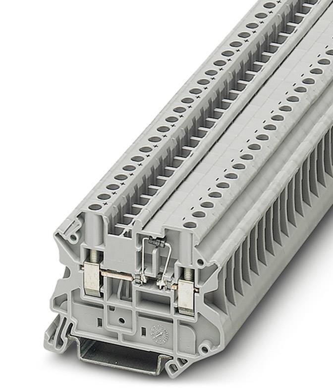 Řadová svorka pro konstrukční prvky Phoenix Contact UT 4-MTD-BE 3046237, 50 ks, šedá