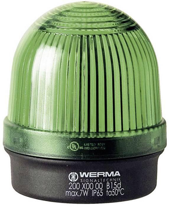 Signalizačné osvetlenie Werma Signaltechnik 200.200.00, 12 V/AC, 12 V/DC, 24 V/AC, 24 V/DC, 48 V/AC, 48 V/DC, 110 V/AC, 230 V/AC, zelená