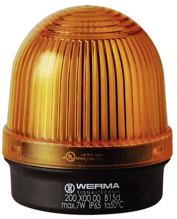 Signalizačné osvetlenie Werma Signaltechnik 200.300.00, 12 V/AC, 12 V/DC, 24 V/AC, 24 V/DC, 48 V/AC, 48 V/DC, 110 V/AC, 230 V/AC, žltá