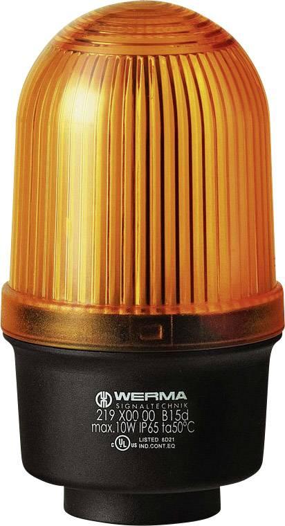 Signalizačné osvetlenie Werma Signaltechnik 219.300.00, 12 V/AC, 12 V/DC, 24 V/AC, 24 V/DC, 48 V/AC, 48 V/DC, 110 V/AC, 230 V/AC, žltá