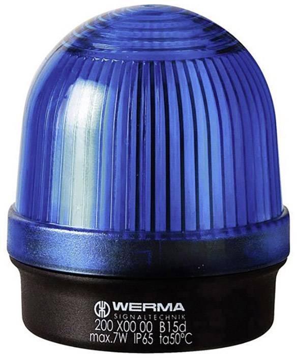 Signalizačné osvetlenie Werma Signaltechnik 200.500.00, 12 V/AC, 12 V/DC, 24 V/AC, 24 V/DC, 48 V/AC, 48 V/DC, 110 V/AC, 230 V/AC, modrá