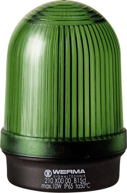 Signalizačné osvetlenie Werma Signaltechnik 210.200.00, 12 V/AC, 12 V/DC, 24 V/AC, 24 V/DC, 48 V/AC, 48 V/DC, 110 V/AC, 230 V/AC, zelená