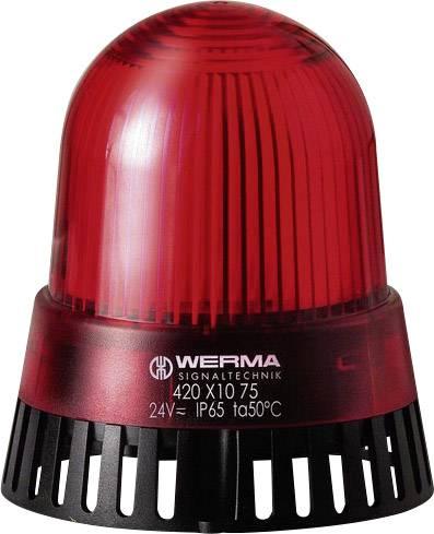 Signalizačný bzučiak LED Werma Signaltechnik 420.110.75, 92 dB, 24 V/AC, 24 V/DC, trvalé svetlo, červená