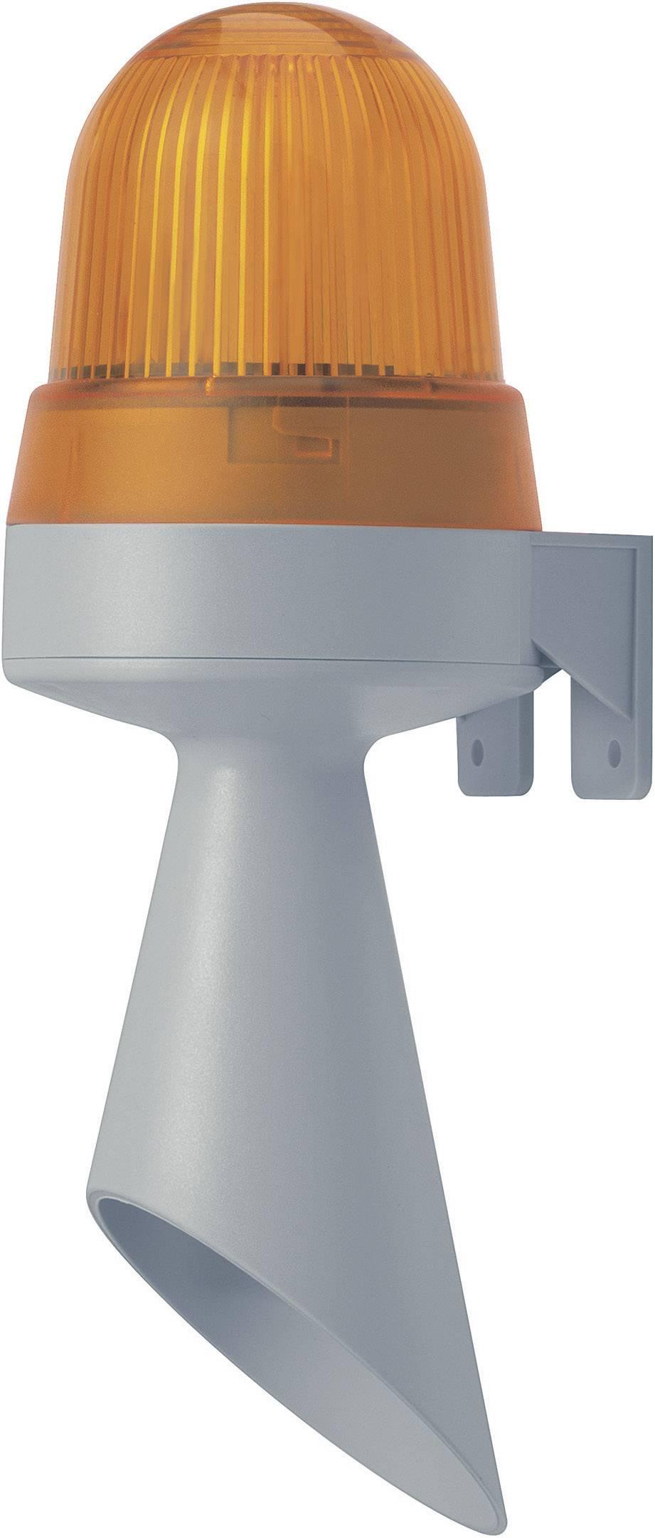 Kombinované signalizačné zariadenie LED Werma Signaltechnik 424.120.75, 98 dB, 24 V/DC, trvalé svetlo, červená