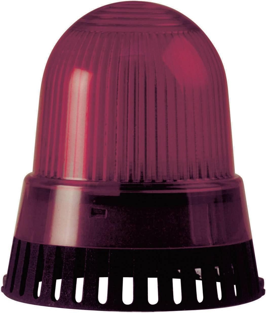 Bzučák s bleskem Werma 421.110.75, 24 V DC/AC, červená