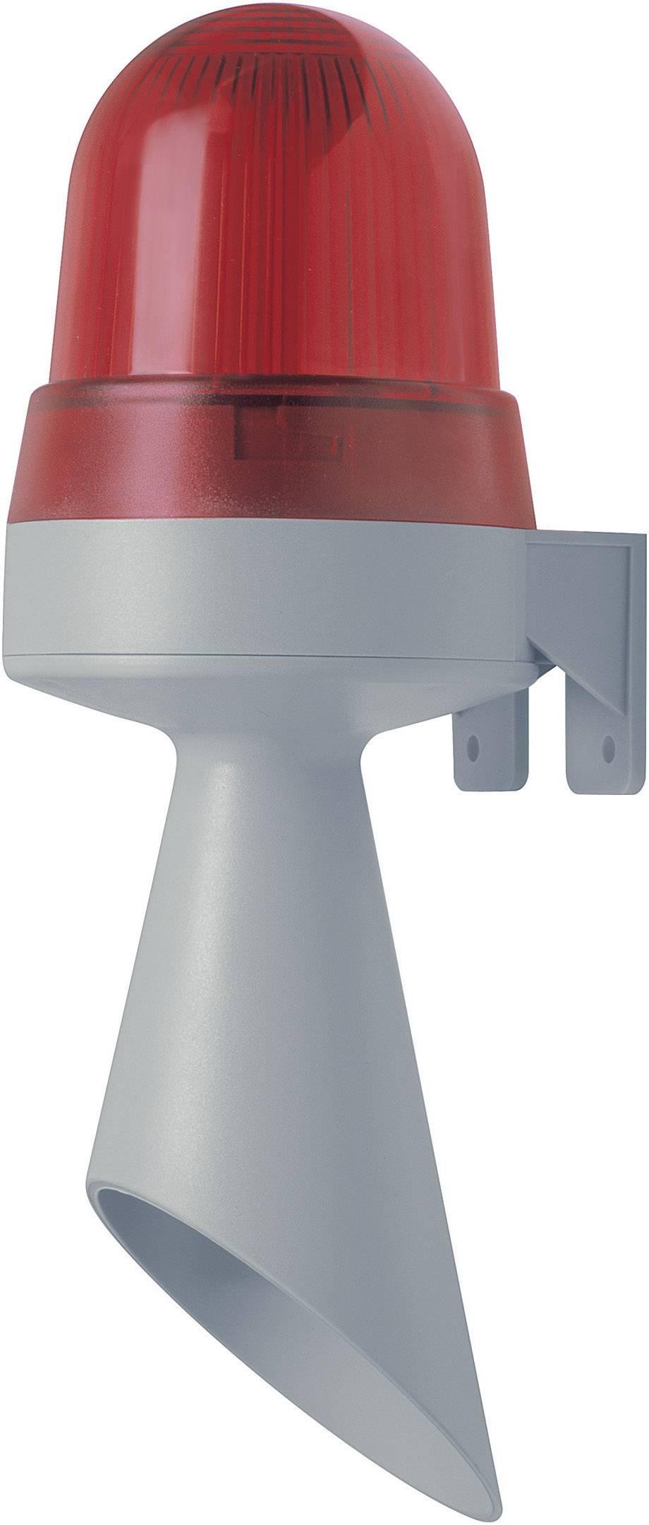 Siréna s bleskem Werma 425.120.75, 8 tónů, 24 V AC/DC, IP65, červená