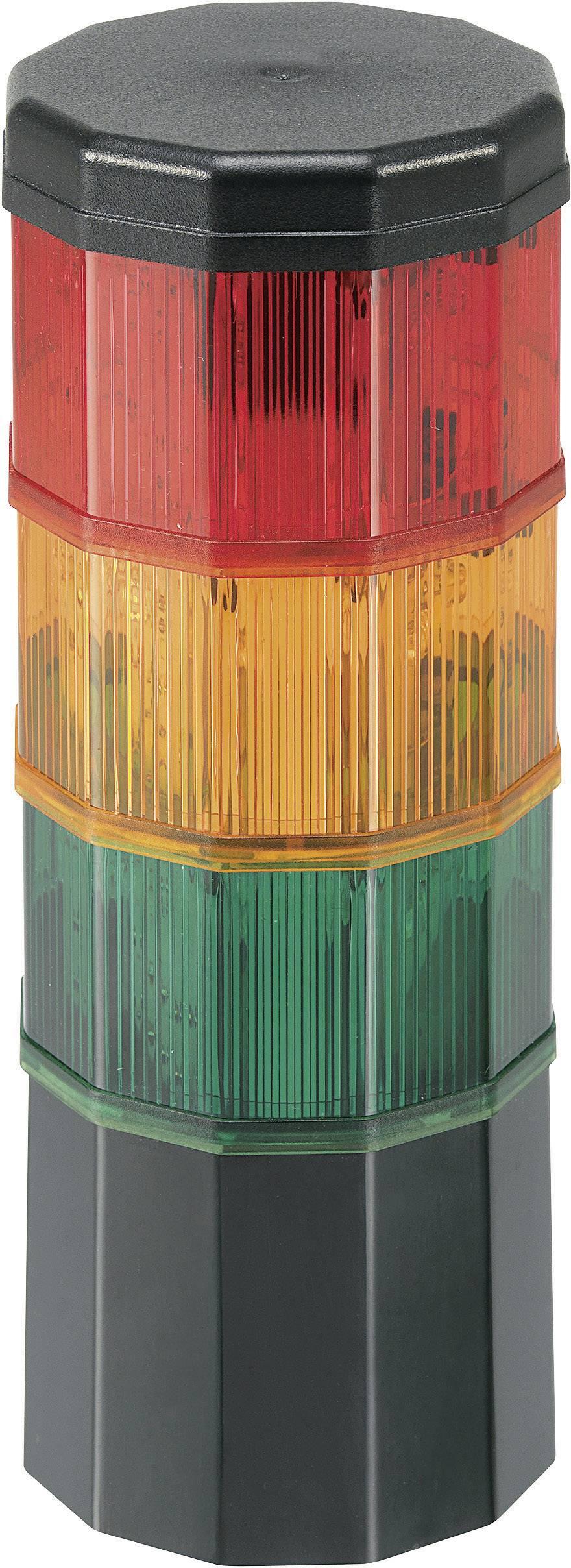 Signalizačný stĺpik Werma Signaltechnik CST 60 696.009.75, 24 V/AC, 24 V/DC, červená, žltá, zelená