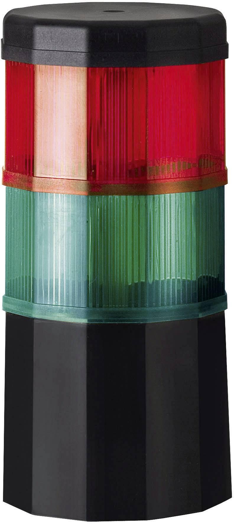 Signalizačný stĺpik Werma Signaltechnik CST 60 696.019.75, 24 V/AC, 24 V/DC, červená, zelená
