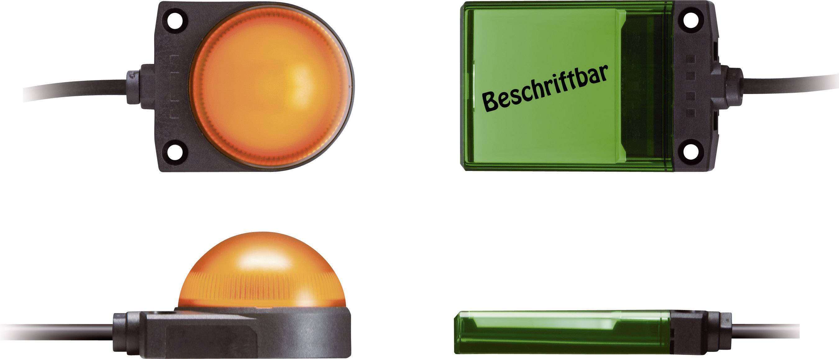 Signalizačné osvetlenie LED Idec LH1D-H2HQ4C30G, 24 V/DC, 24 V/AC, zelená