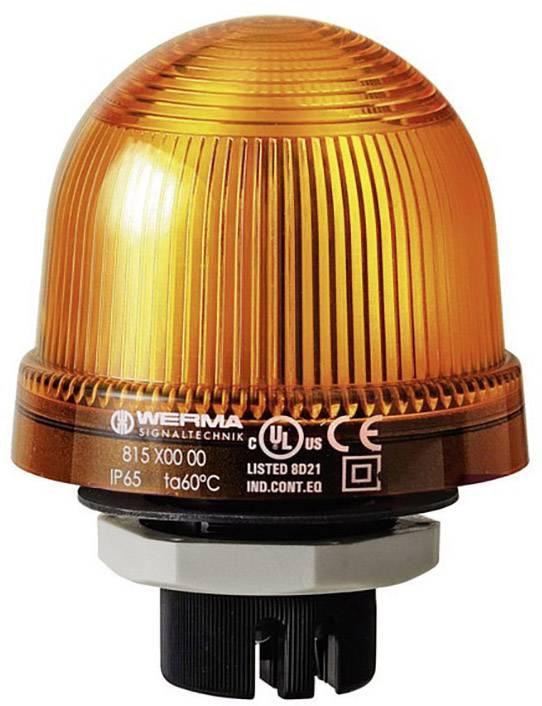 Signalizačné osvetlenie Werma Signaltechnik 815.300.00, 12 V/AC, 12 V/DC, 24 V/AC, 24 V/DC, 48 V/AC, 48 V/DC, 110 V/AC, 230 V/AC, žltá