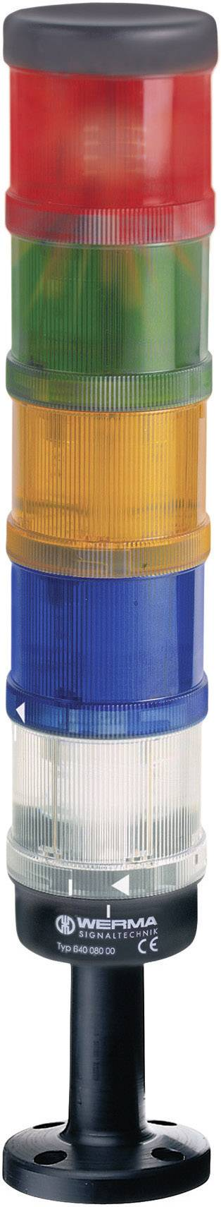 LED stálá signálka Werma 644.100.75, 24 V, IP65, červená