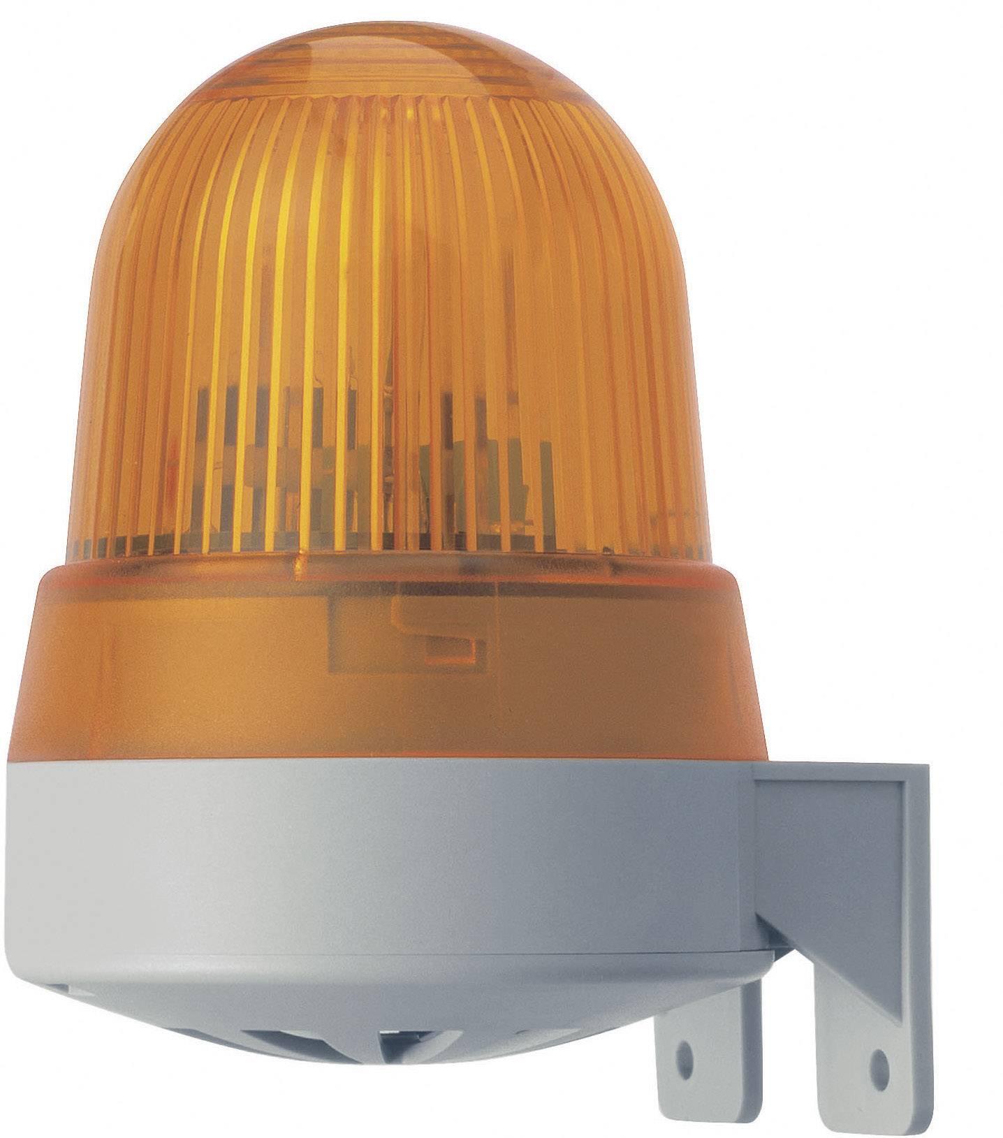 Signalizačný bzučiak LED Werma Signaltechnik 422.110.75, 92 dB, 24 V/AC, 24 V/DC, trvalé svetlo, červená