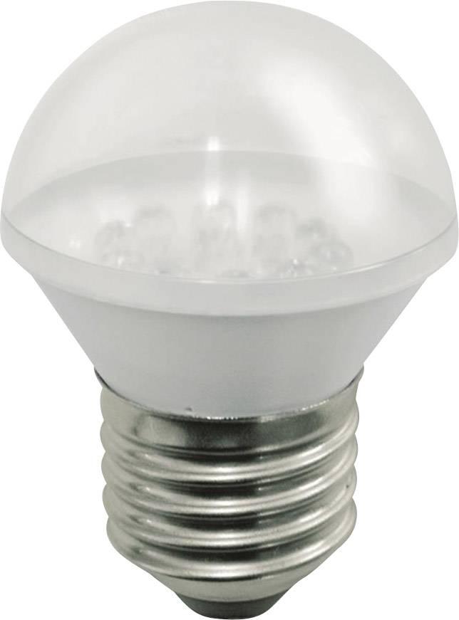 LED žárovka pro signalizační systém Werma Signaltechnik E27 24 V/DC ROT 956.120.75, červená